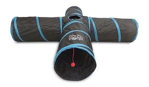 Premium Extra LARGE and Extra LONG 4 Way Cat Tunnel Toy for Small Animals