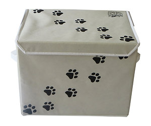 "LARGE 16"" x 12"" Dog Toys Storage Container Box by Feline Ruff. A Large Pet Toy S"