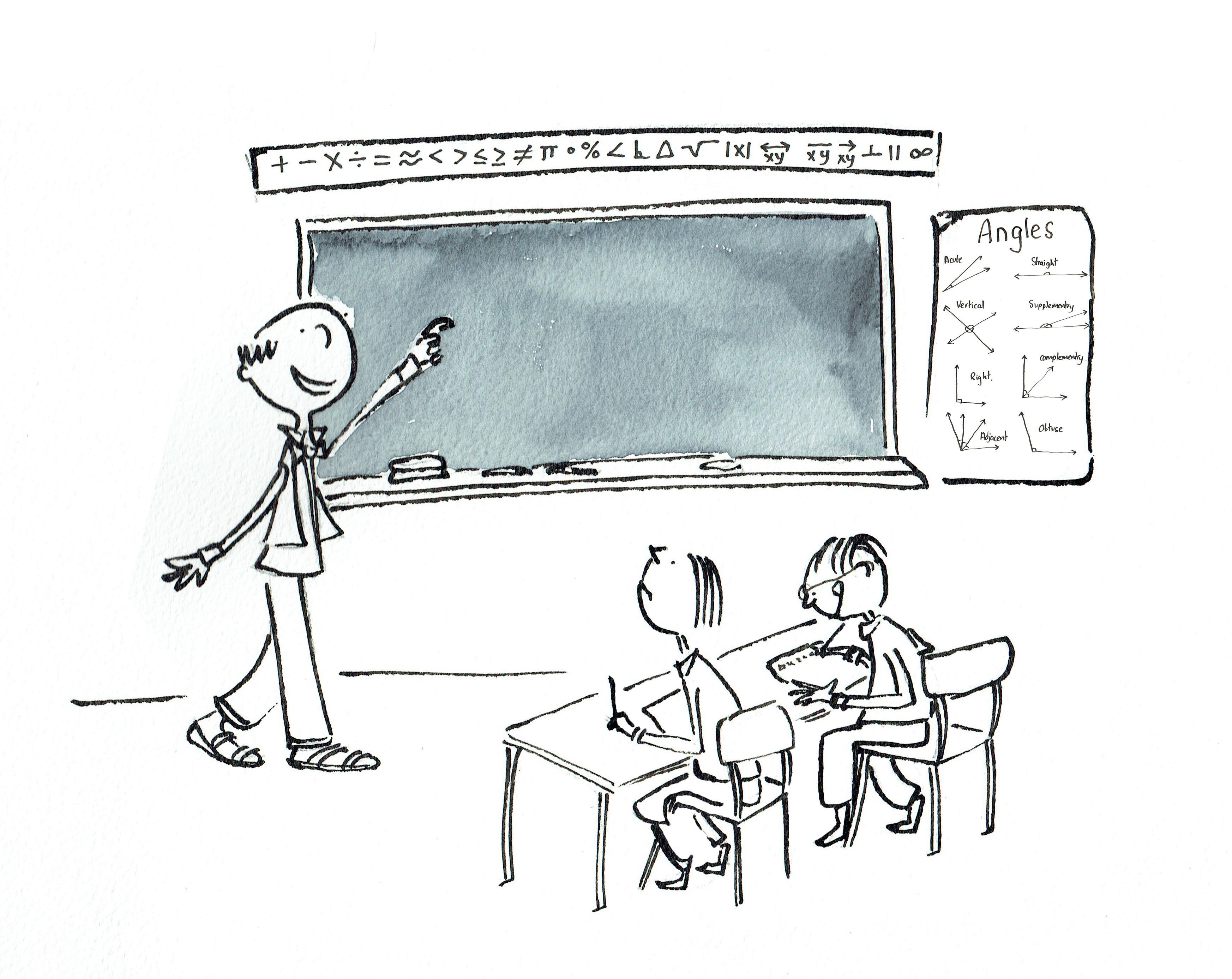 maths class blackboard