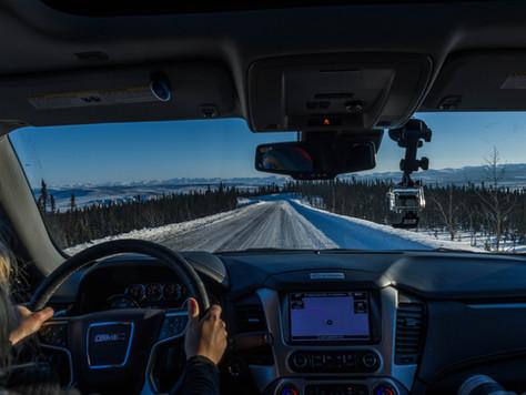"""Dempster Highway und eine letzte Fahrt auf der Iceroad nach """"Tuk"""""""