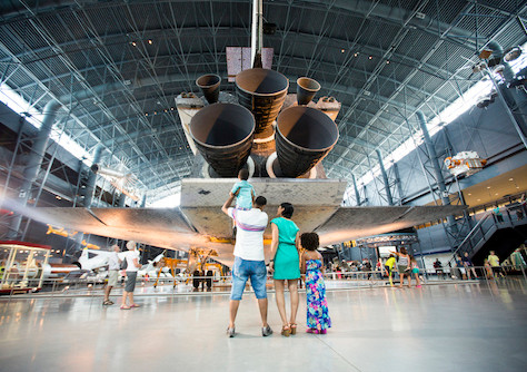National Air and Space Museum in Washington, DC wird renoviert