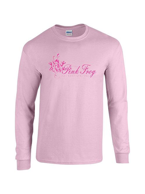 Pink Frog Logo Long-Sleeve Tee