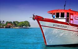 Barcos, lanchas e escunas.