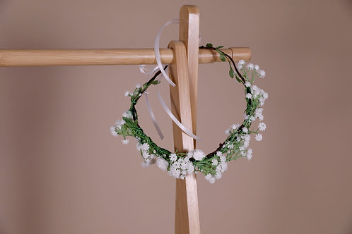 COURONNE TANYA WHITE FLOWERS