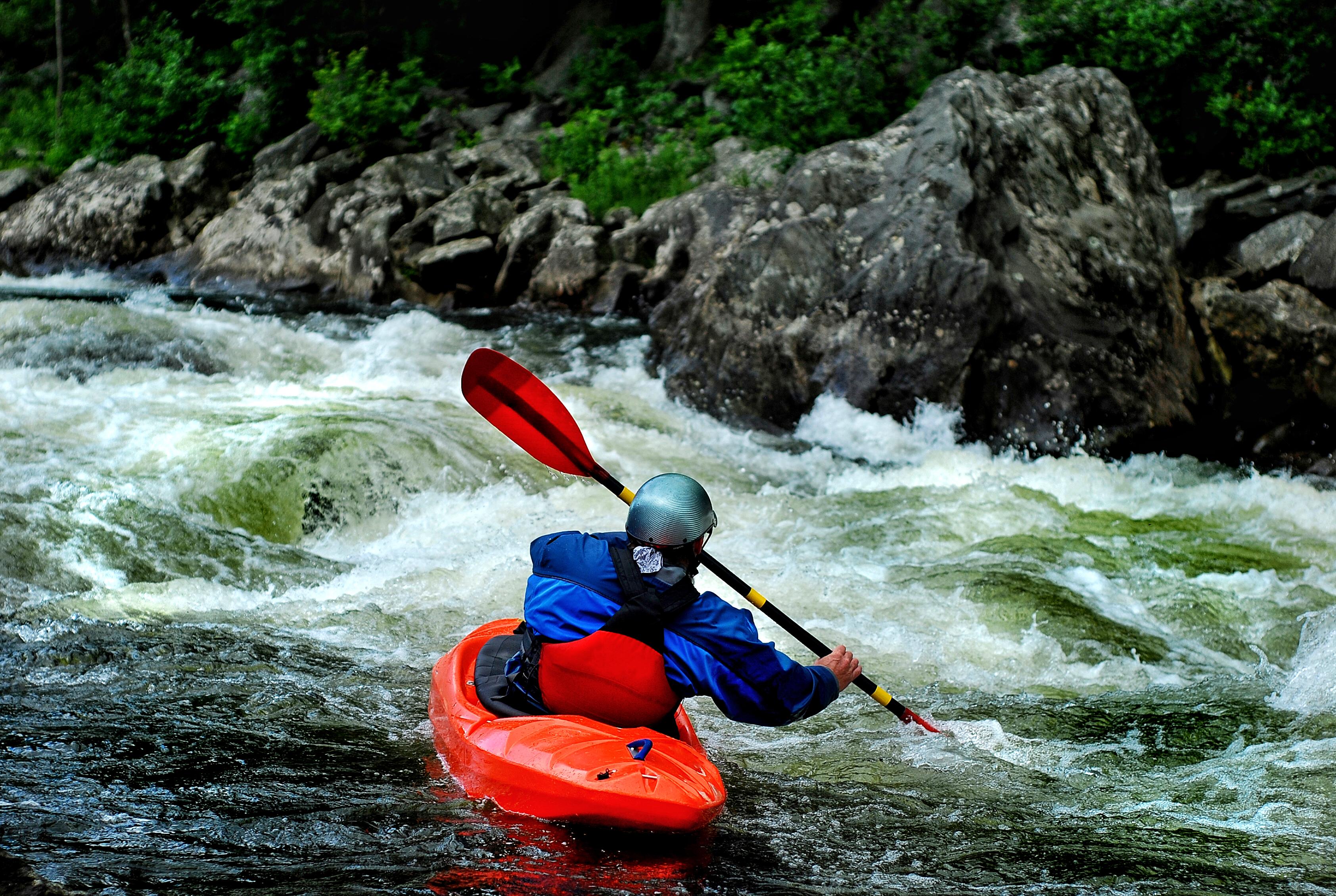white water paddling