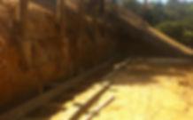 Timber Pole Wall