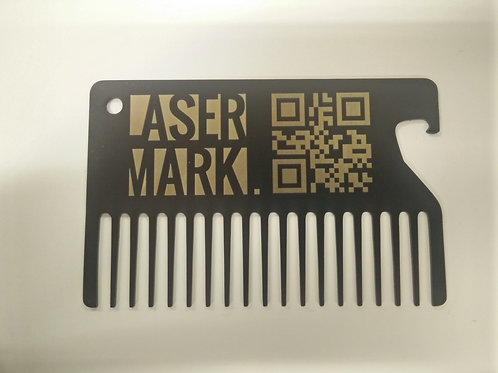 Personalised black stainless steel beard comb business card/gift Size: 85*54*1mm