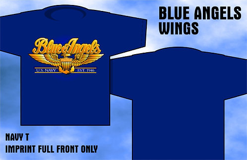 Blue Angel Wings T-Shirt