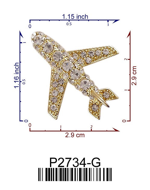 Crystal Jet Aircraft Pin
