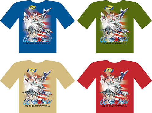 Ocean City Air Show 2014 Official Event T-Shirt