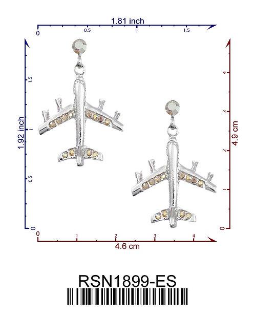 747 Jet Earrings