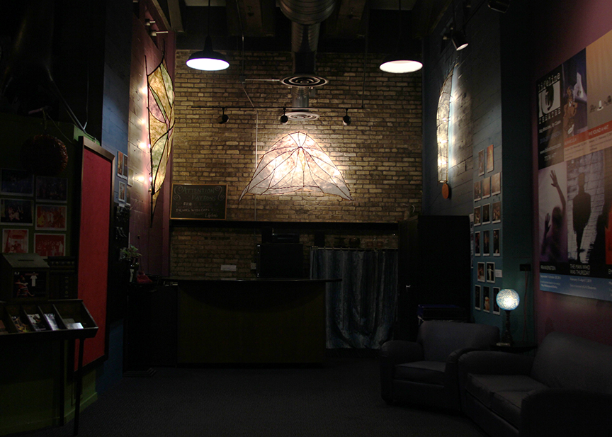 Lifeline Theatre installation