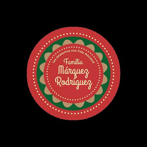 Christmas  Round Stickers - 28 (und)