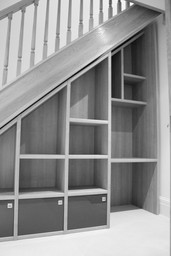 Bespoke furniture, under staircase
