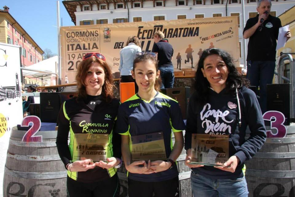 podio femminile trail del collio