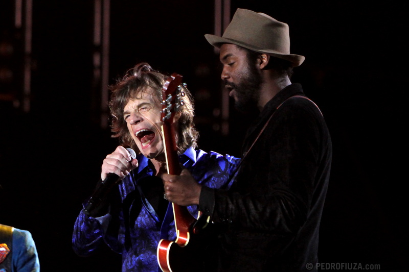 Mick Jagger and Gary Clark Jr.