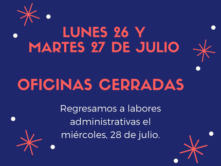 Oficinas cerradas (lunes y martes)