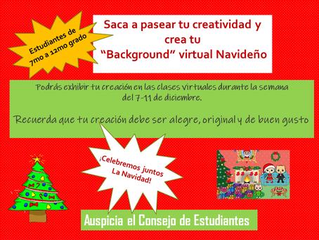 7mo-12mo - Crea tu fondo virtual navideño