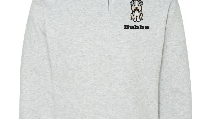 Personalized Dog Sweatshirt Embroidered Fleece Quarter Zip