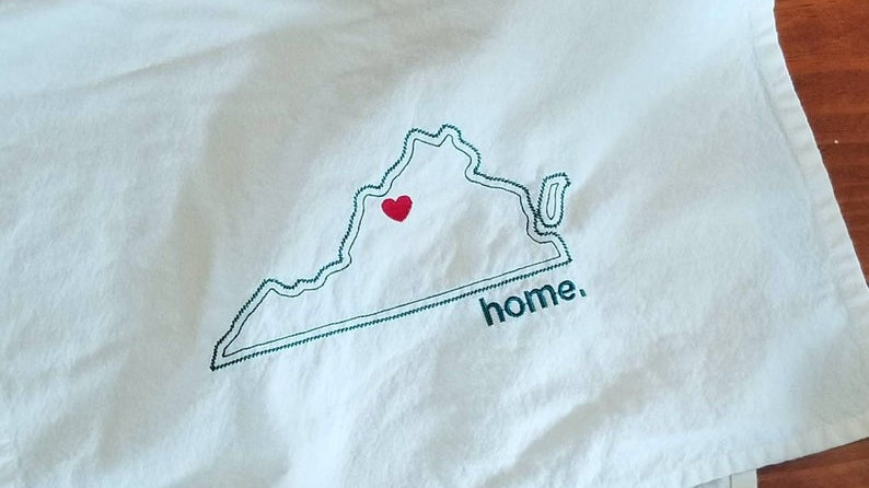 Hometown Towels State and Region Hand Towel Dish Towel