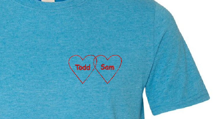 Personalized Intertwined Hearts Tshirt