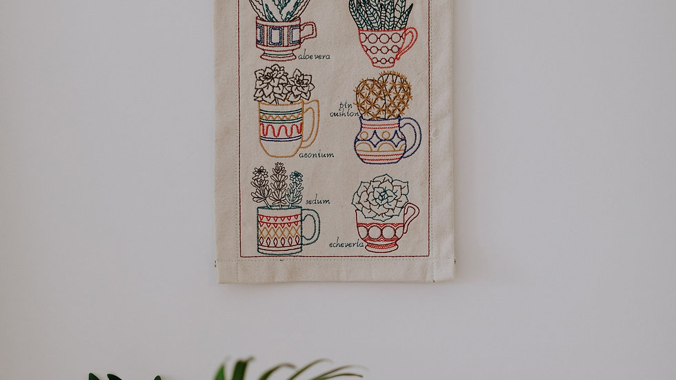 Succulent Wall Hanging Banner