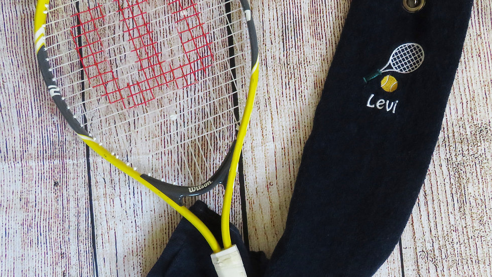 Personalized Tennis Towel with Grommet and Hook Add Name