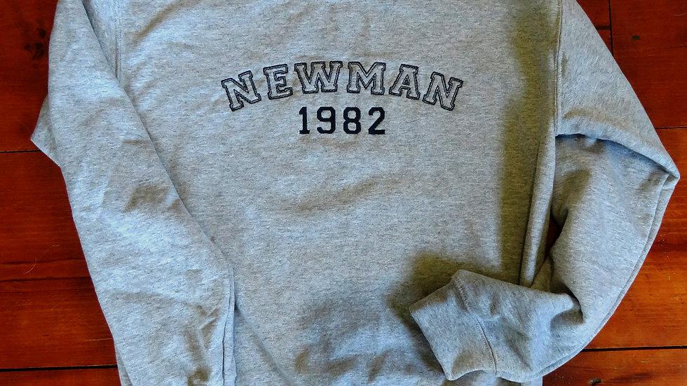 Varsity Block Custom Sweatshirt Embroidered Sweatshirt Personalized Gift Name Lo