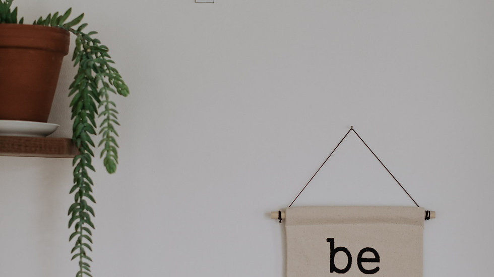 Be Brave Embroidered Banner Wall Hanging