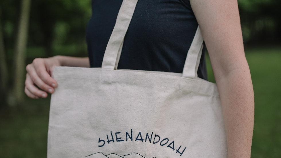 Shenandoah Valley Canvas Tote Bag Large Tote Bag with Gusset Bottom