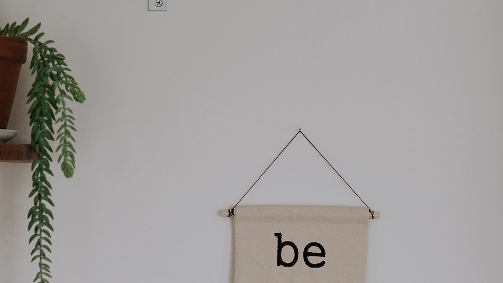 Be You Embroidered Banner Wall Hanging