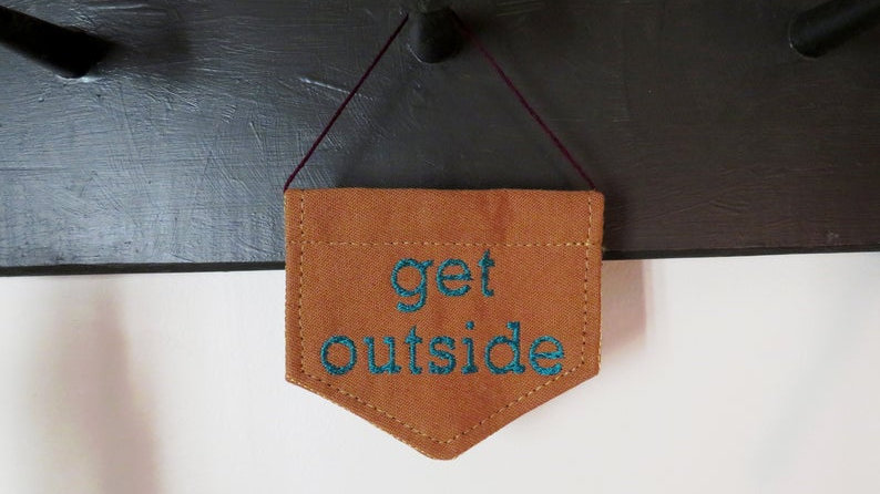 Custom Mini Embroidered Banner Wall Hanging