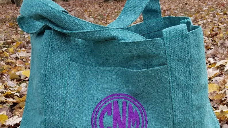 Personalized Cotton Canvas Tote Bag with Gusset Bottom