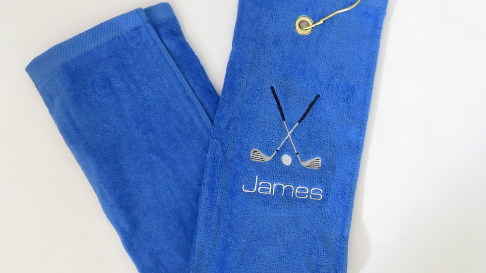 Personalized Golf Towel with Grommet and Hook Add Name