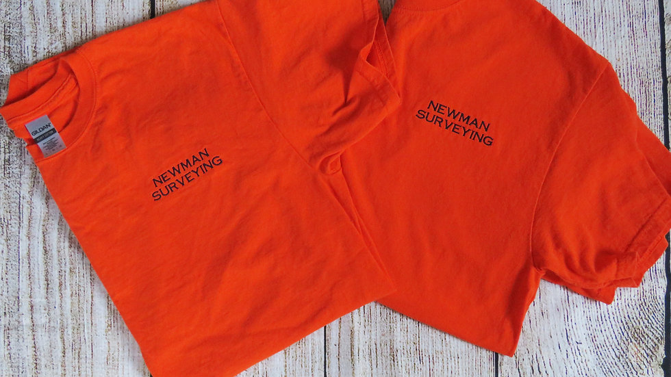 Personalized Company Name T-shirt Embroidered
