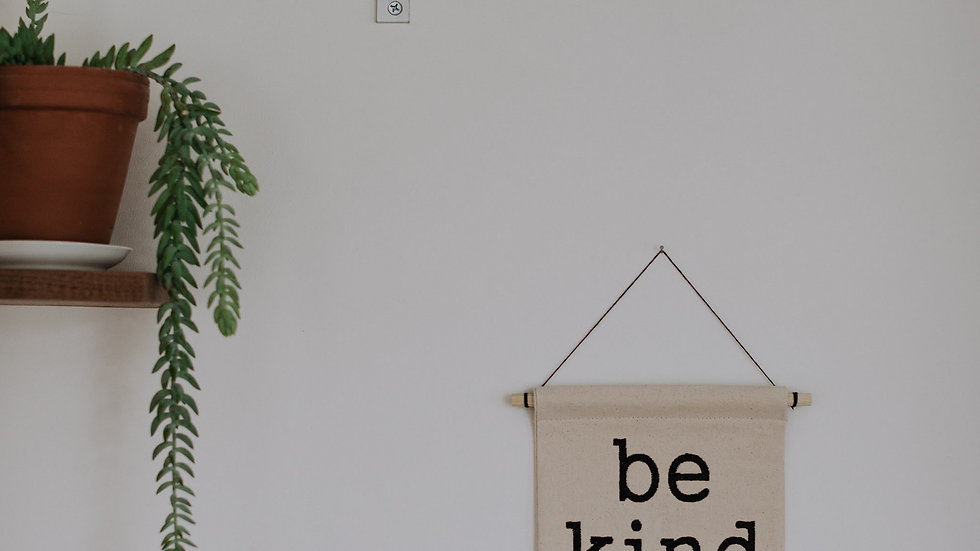 Be Kind Embroidered Banner Wall Hanging Pendant