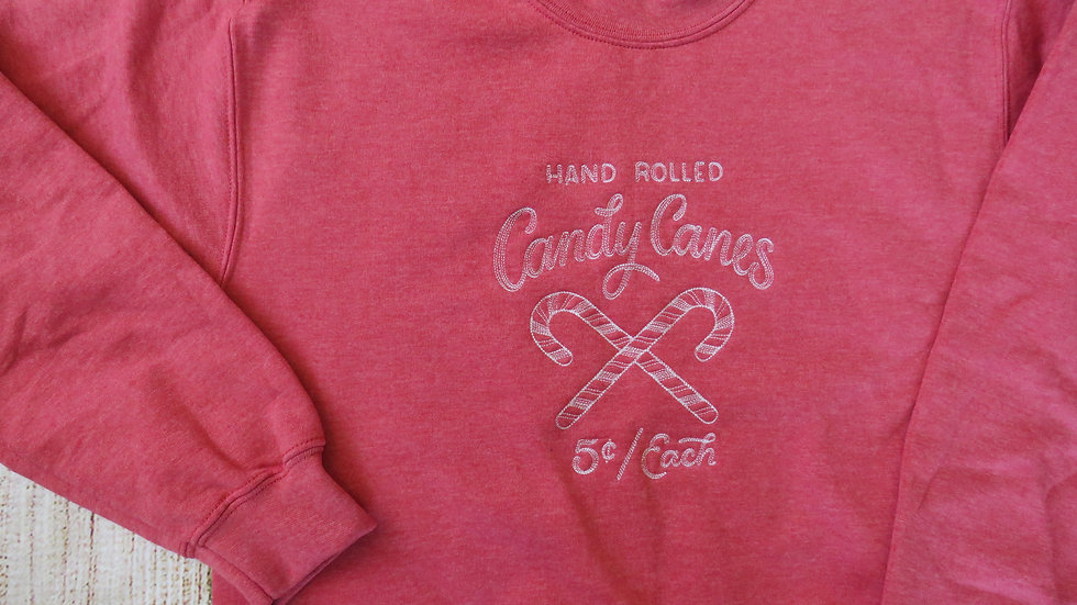 Candy Cane Winter Crew Neck Sweatshirt