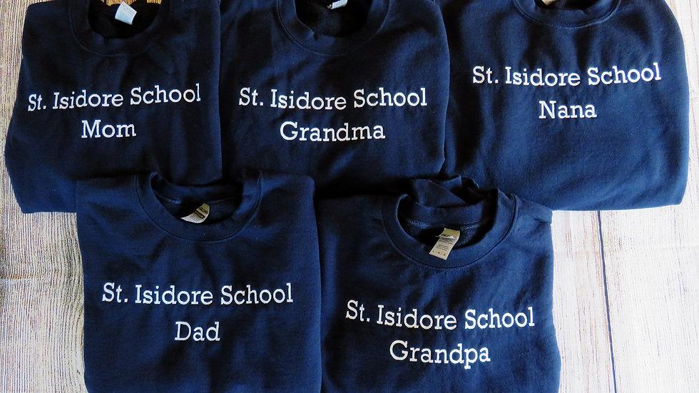 Personalized School or Company Name Sweatshirt Embroidered Sweatshirt
