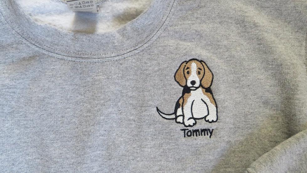 Personalized Dog Sweatshirt Embroidered Fleece Sweatshirt