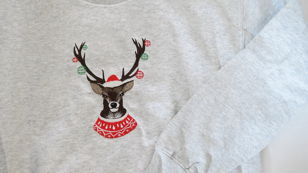 Christmas Reindeer Crew Neck Sweatshirt