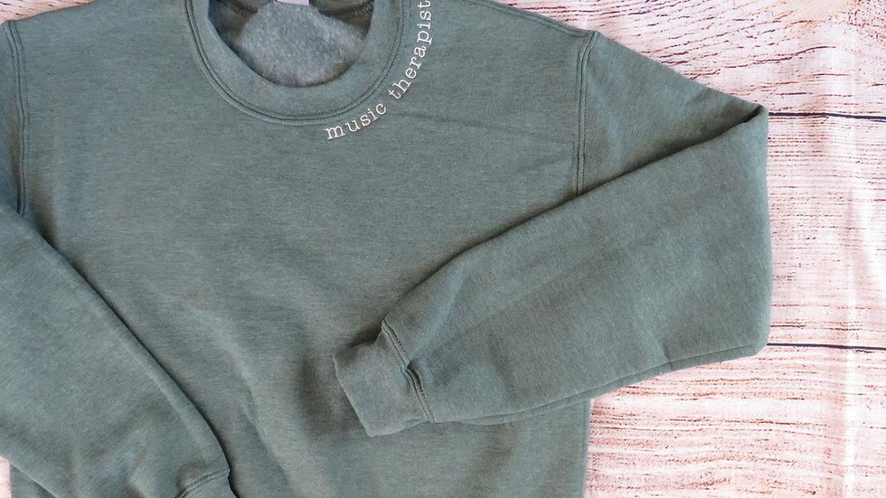 Personalized Sweatshirt Embroidered Neckline