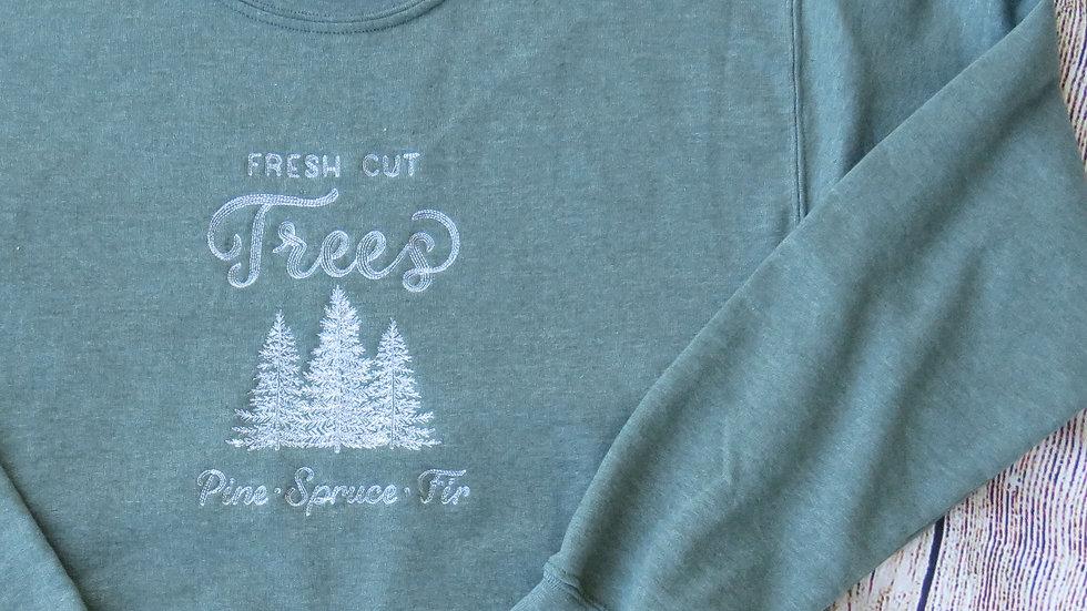 Christmas Tree Farm Crew Neck Sweatshirt