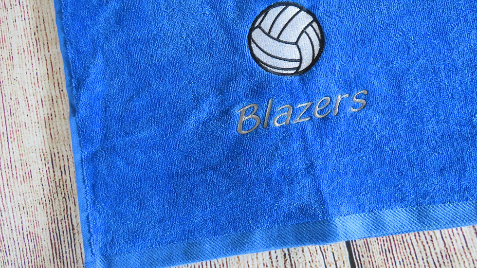 Personalized Volleyball Towel Add Name