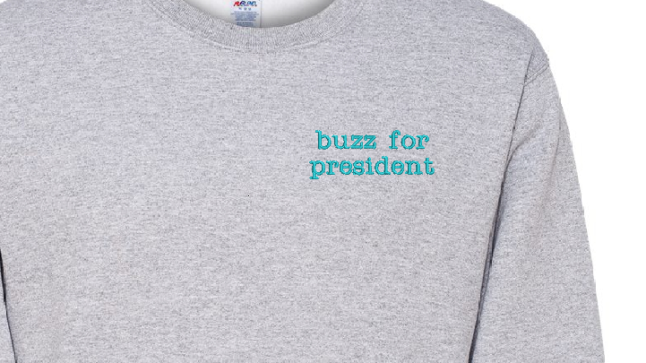 Personalized Sweatshirt Embroidered Fleece Sweatshirt Name Word Phrase on a Swea