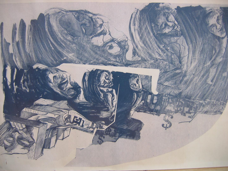 Série Auto-retrato,  1977. Heliografia,