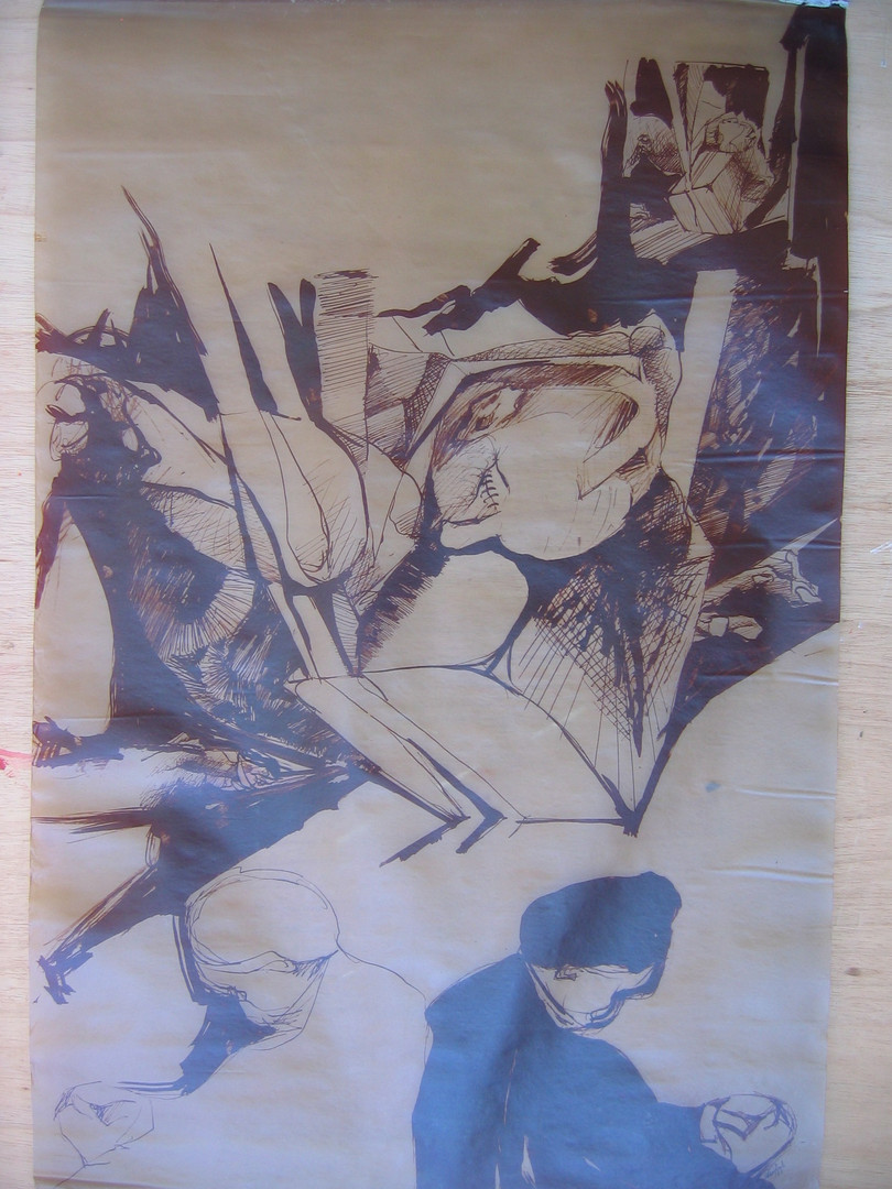 Velório, 1975. Heliografia, 1,20 x 0,80