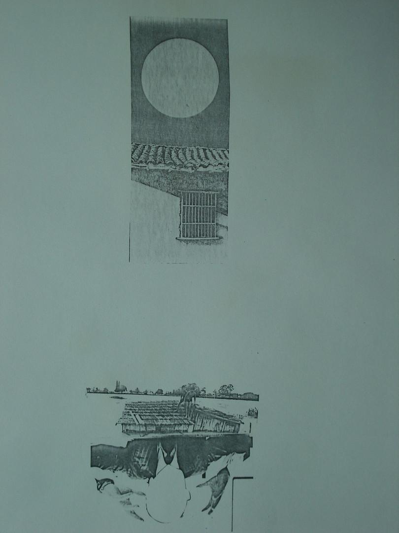 Naufrágio no sertão, 1984. Colagem.