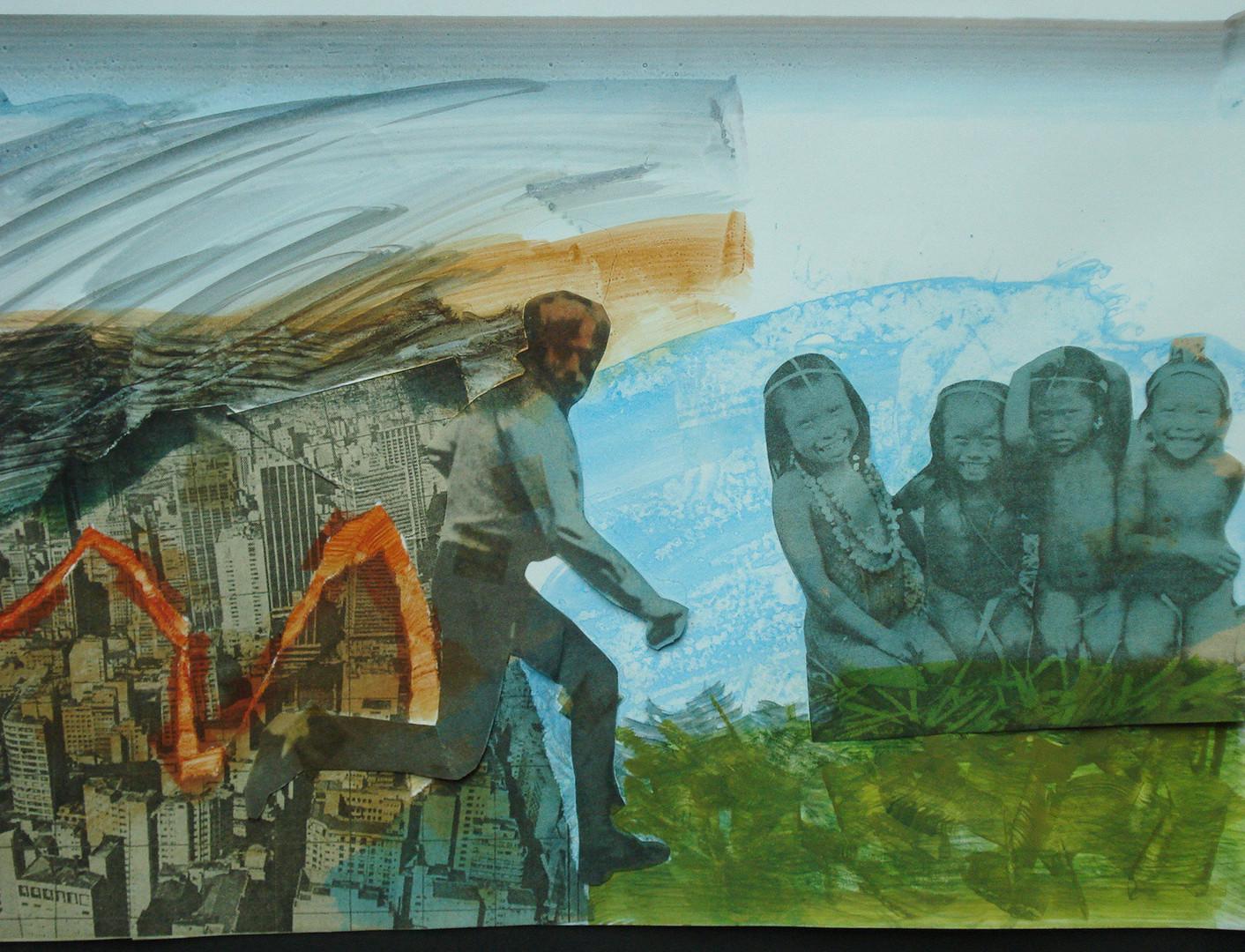 Fuga, 1981. Colagem, 30 x 40 cm.
