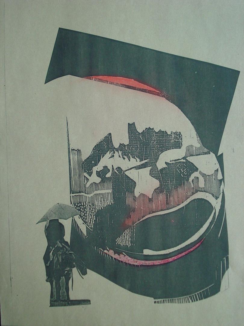 Êxodo, 1978. Xerografia, 29,7 x 21 cm..J