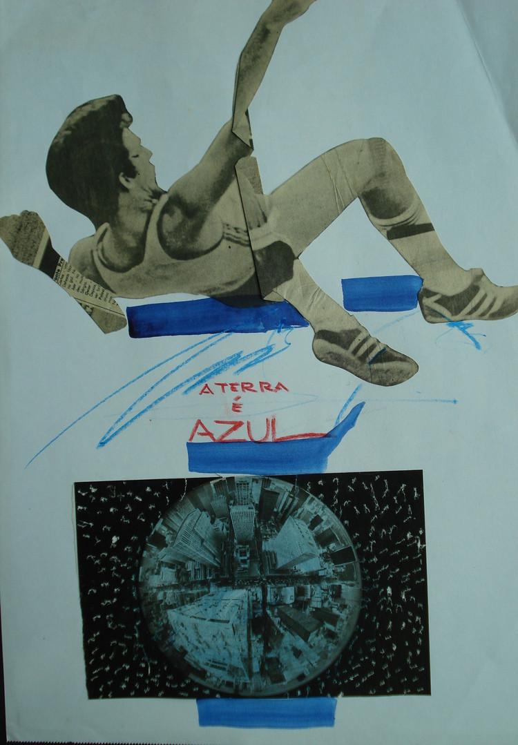 Salto Azul, 1983. Colagem, 29,7 x 21cm.
